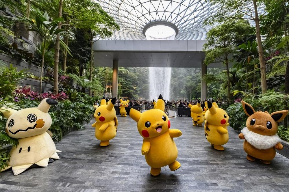 Jewel Changi Airport_Pokemon Parade_Dancing at the North Canyon