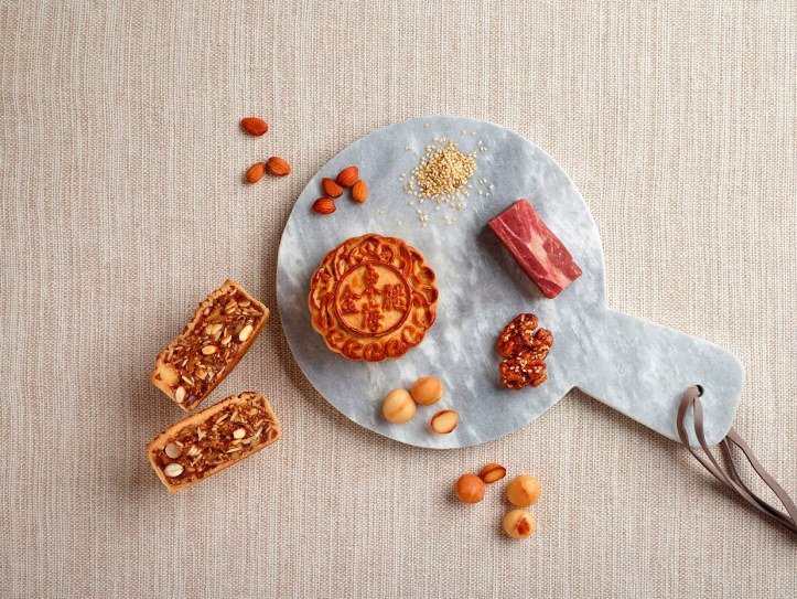 Baked Mooncake with Jin Hua Ham & Assorted Nuts 金华五仁