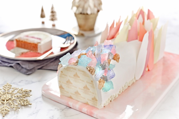 Crystal Glacier Log Cake