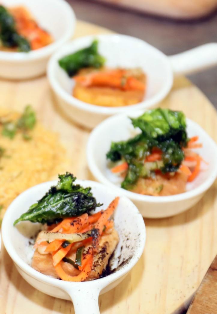 Crispy Kale, Seaweed Tofu, Asian Slaw (1)