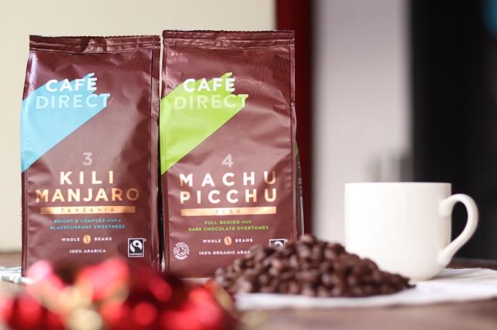 Cafedirect Terroir Whole Beans Kilimanjaro Coffee and Cafédirect Terroir Whole Beans Machu Picchu Coffee