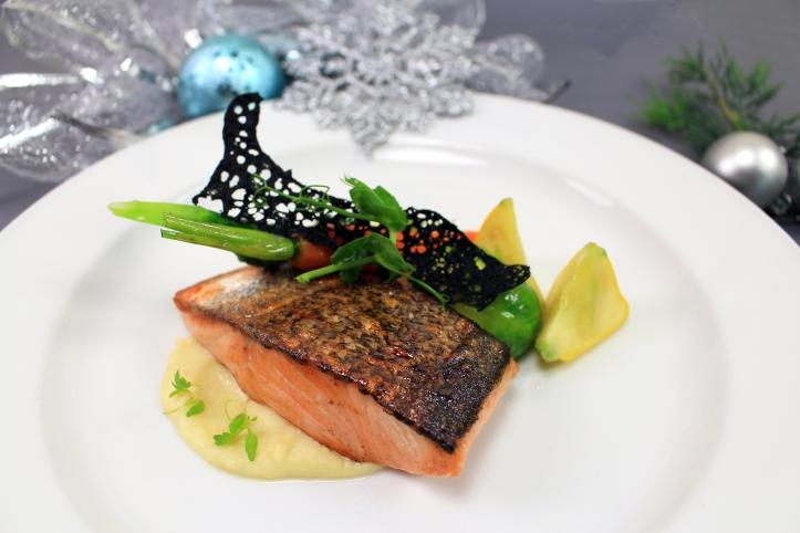 Pan-seared Atlantic Salmon