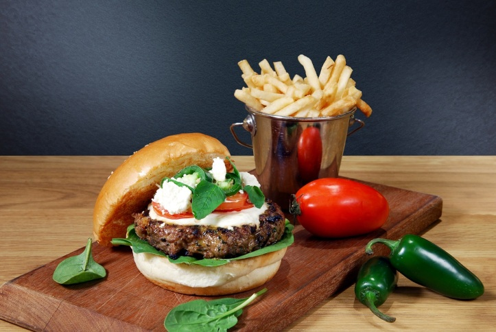 The Santorini Greece Lamb Burger