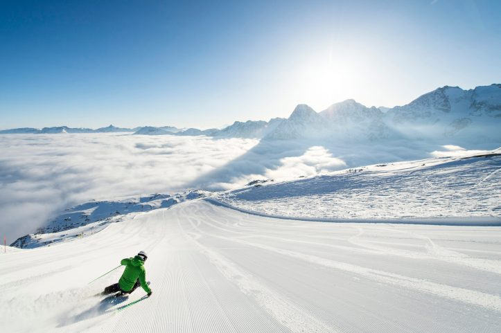 ENGADIN St. Moritz: Skifahren Corvatsch