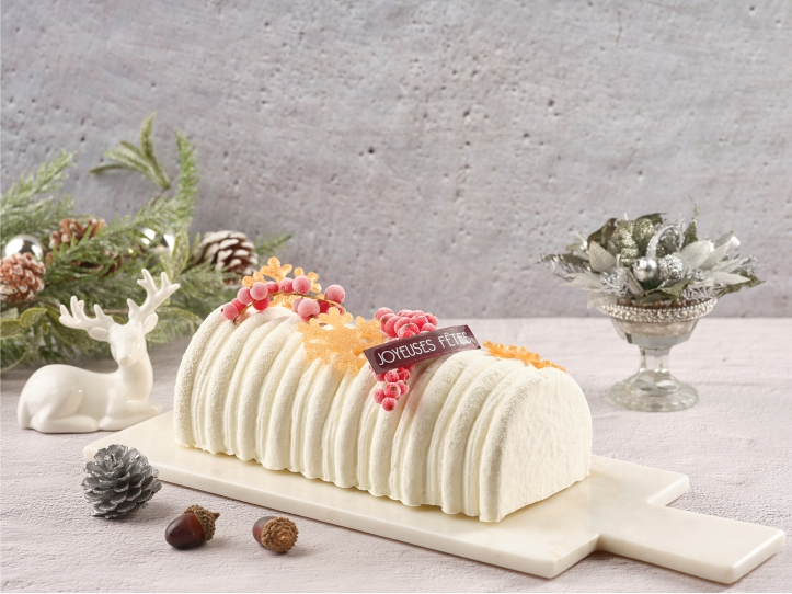 One-Ninety - Coconut Mousse with Calypso Mango Yule Log